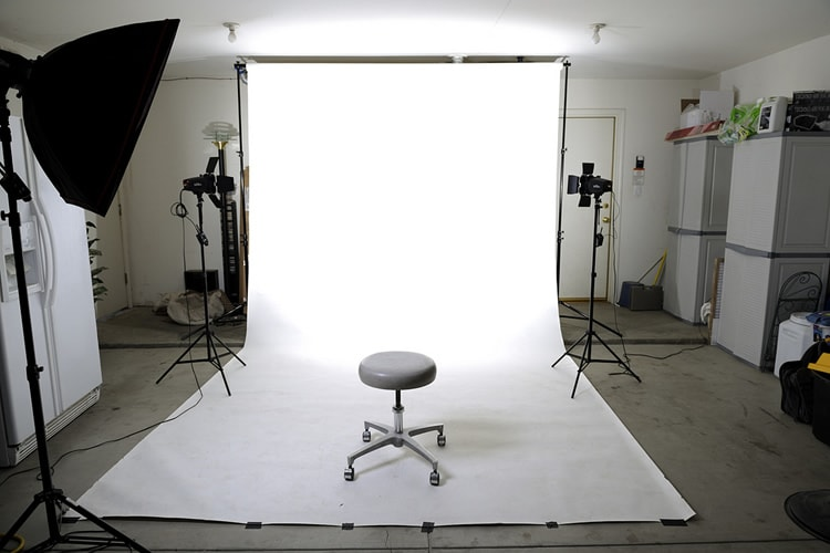 chair, backdrop, studio, photography